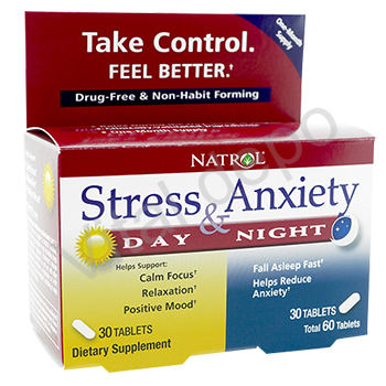 [NTR]Stress&Anxiety(Day+Night)30錠+30錠セット 1箱
